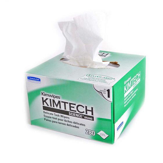 Kimwipes limpieza fibra óptica